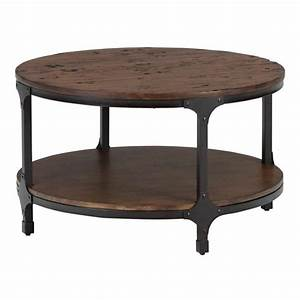 jofran urban nature wood round coffee table in pine 785 2 With round pine coffee table