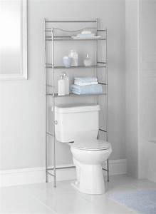 Mainstays, 3-shelf, Bathroom, Over, The, Toilet, Space, Saver, With, Liner, Satin, Nickel
