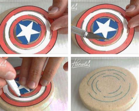 captain america shield cookies hanielas recipes
