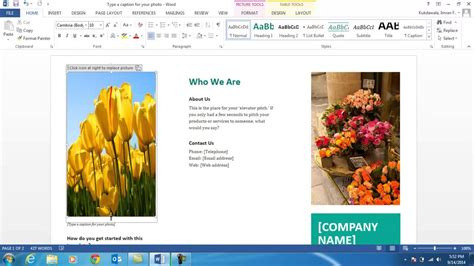 Word 2013 Brochure Template by Word 2013 Brochure Template The Best Templates Collection