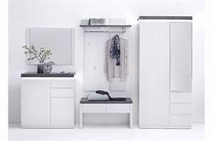 Meuble De Couloir Avec Banc : meuble d 39 entr e design blanc gris pour ensemble chaussures ~ Teatrodelosmanantiales.com Idées de Décoration