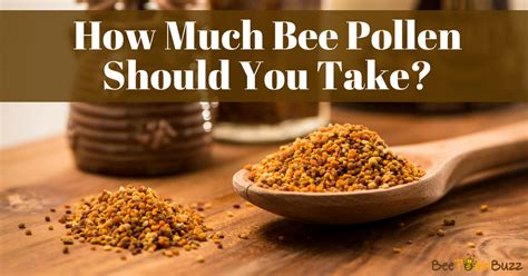 bee pollen dosage