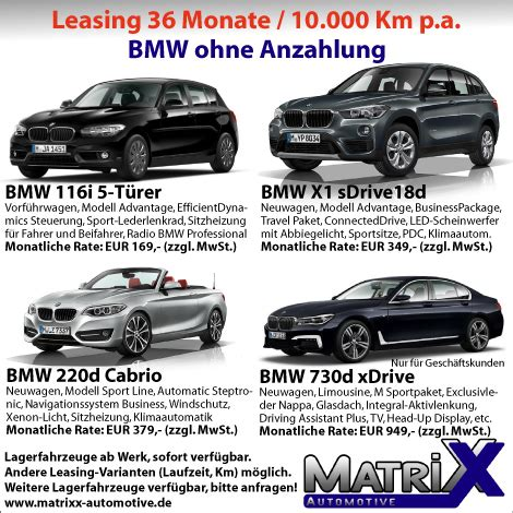leasingangebote ohne anzahlung fahrzeug leasing matrixx automotive