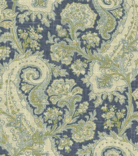 drapery material home decor print fabric waverly porch paisley chambray