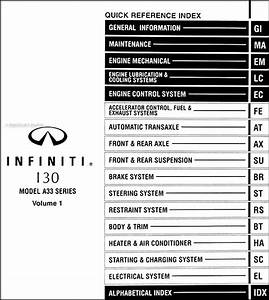 2001 Infiniti I30 Repair Shop Manual Original