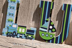 custom nursery wooden letters baby nursery by With wooden letter train cars