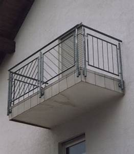 gelander aussengelander am beton balkon feuerverzinkt With markise balkon mit beton tapete