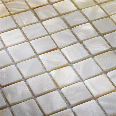 Perlmutt Mosaik Fliesen Shell Weiss 30x30 Cm Ebay