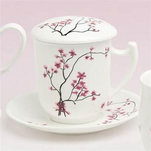 Teetassen Mit Deckel : tea 4 you teetasse mit sieb und deckel cherry blossom ~ Pilothousefishingboats.com Haus und Dekorationen