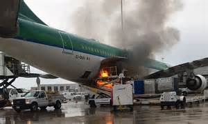 fire spreads  aer lingus passenger jet  orlando