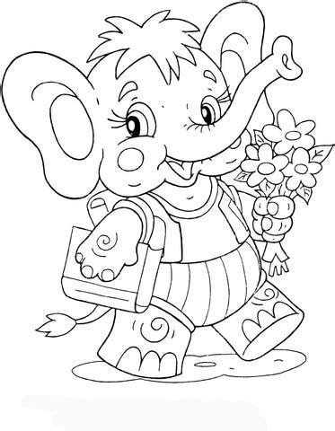 elephant calf    school coloring page supercoloringcom