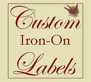 40 custom cotton iron on labels fabric garment tags with your With custom iron on clothing labels