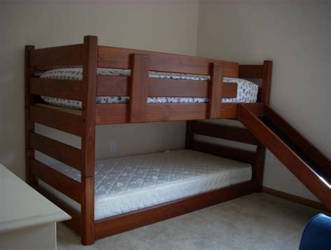 solid wood twin  twin mid height bunk bed