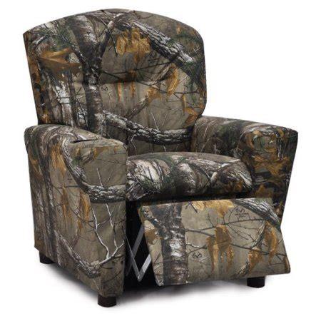 walmart camo recliner kidz world real tree camouflage recliner walmart