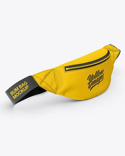 More than 100 categories, over 5000 mockups. Free Fanny Pack Mockup - Front Half-Side View (PSD)