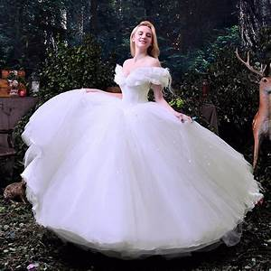hot sale 2016 new movie deluxe cinderella wedding dress With wedding dress costume
