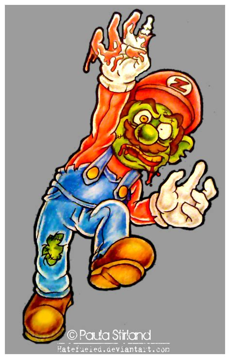 Zombie Mario By Hatefueled On Deviantart