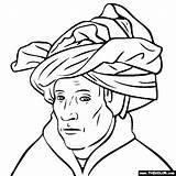 Turban Eyck Van Jan Colorear Para Coloring Arte Pages Gotico Dibujos Artistas Template Obras Pequenos Laminas Paintings Colouring Elementary Ninos sketch template