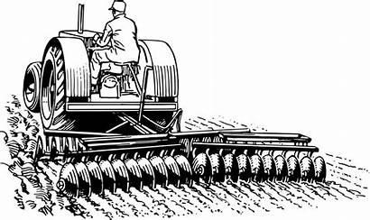 Tractor Clipart Harrow Vector Plow Drawing Plough