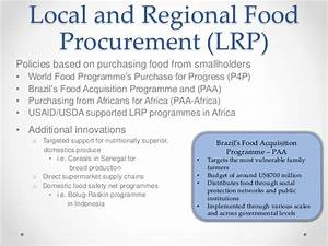 Food Assistance and Institutional Demand: Supporting ...