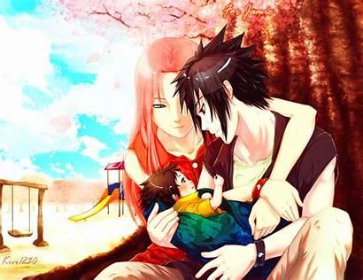 Naruto Sasuke Shippuden Sakura Anime Neck Hug