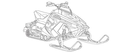 Snowmobile Coloring Sheets