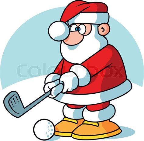 santa golf player stock vector colourbox