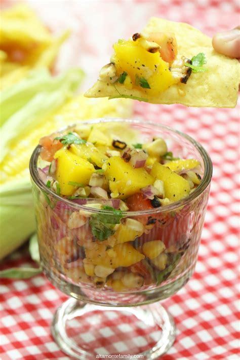 corn mango salsa sweet grilled recipe fresh tide table party
