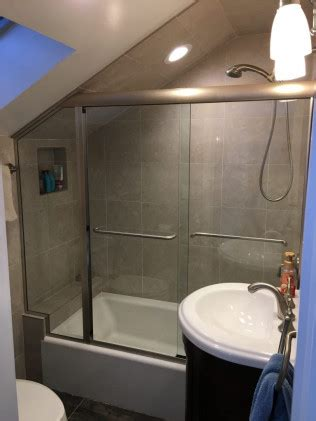 angled ceiling frameless applications cold spring shower doors