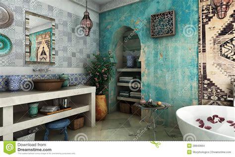 Rust Bathtub by Moroccan Bathroom Stock Images Image 28840664