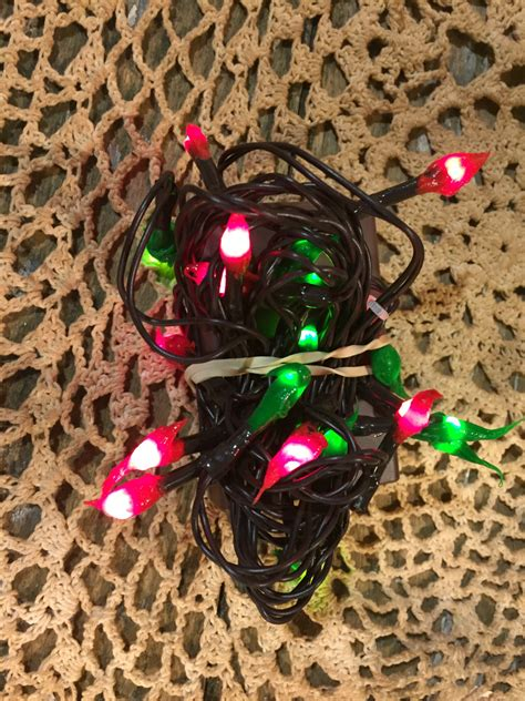 primitive silicone christmas tree lights 50 count hand dipped primitive silicone rice lights