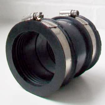 flexible rubber waste pipe connector mm mm