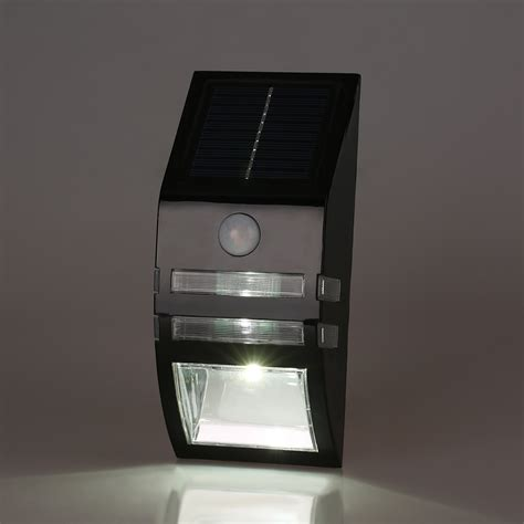 solar sensor wall light bright led solar power pir motion sensor security wall