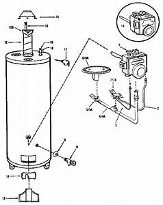 Rheem 50 Gal  Kenmore Power Miser V Gas Water Heater Parts