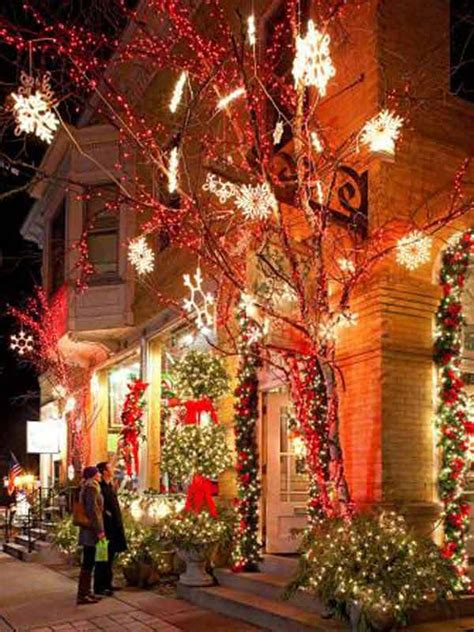 Outdoor Christmas Decorating Ideas Front Porch by Top 46 Outdoor Christmas Lighting Ideas Illuminate The