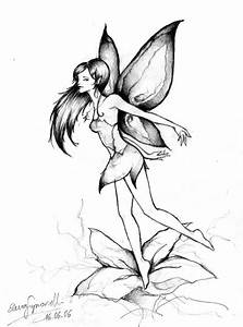 Drawings Of Fairies And Flowers | fashionplaceface.com