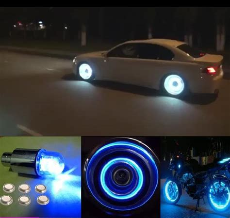wheel led lights universal bike car tyre tire valve caps neon light l