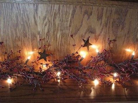 lighted burgundy pip berry  star garland