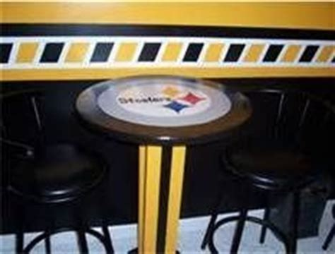 steelers table and chairs steelers cave ideas