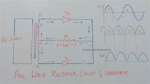 Full Wave Rectifier Circuit And Operation  U2013 Analyse A Meter