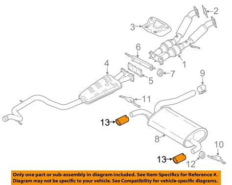 volvo oem   xc   exhaust system tailpipe