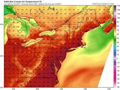 Humidity Heat Tuesday Boston Wave Wednesday Air