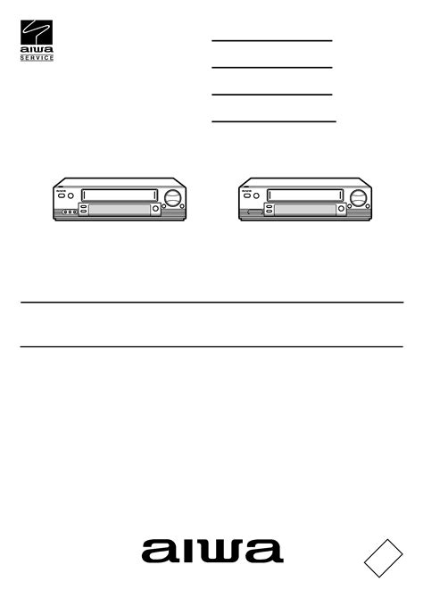 AIWA HVFX7850KH - Service Manual Immediate Download