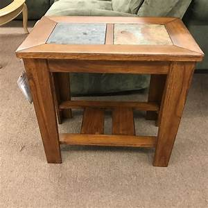 Pair, Of, Slate, Top, End, Tables