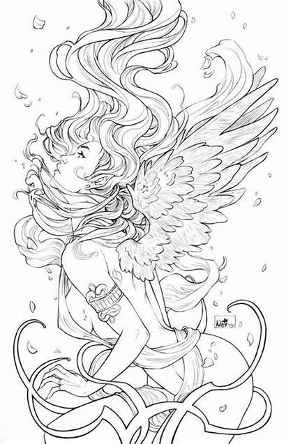 Coloring Pages Fantasy Adults Angel
