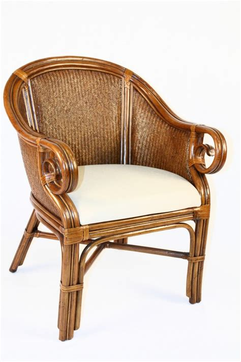 palm indoor rattan wicker club chair