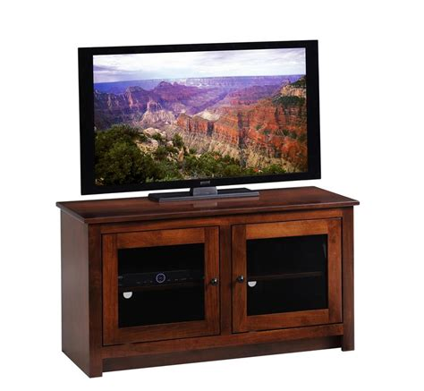 tv stand glass doors amish berlin tv stand with glass doors