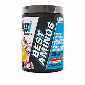 Bpi Sports Best Aminos Bcaa   Glutamine Powder  Fruit Punch  25 Servings
