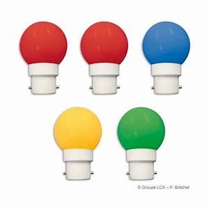 Ampoule Led Couleur : lot de 5 ampoules pour guirlande b22 de couleur ~ Melissatoandfro.com Idées de Décoration