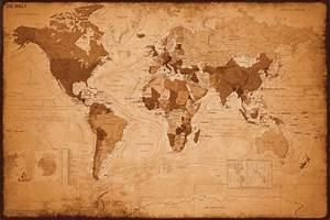 Poster, Quadro Mapa